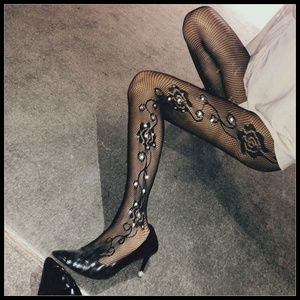 Miss Babydoll Intimates & Sleepwear - ❤️NEW Sexy Bling Fishnet Floral Stockings #D20
